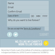Remember a Charity - Live Forever Campaign